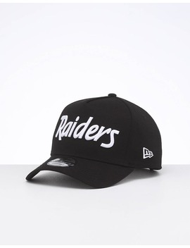 New Era Raiders 9 Forty K Frame Team Script Otc/White Script by New Era