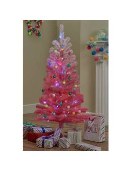 Argos Home 4ft Christmas Tree   Pink Ombre887/4678 by Argos