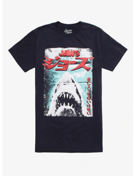 Jaws Japanese Poster T Shirt by Hot Topic