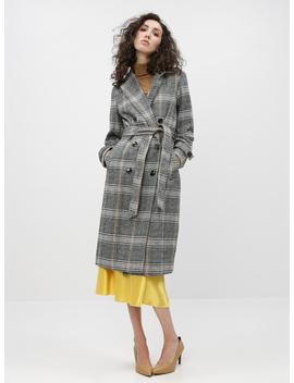 Šedý Kostkovaný Kabát Dorothy Perkins by Dorothy Perkins