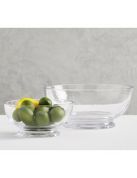 Grace Pressed Glass Serving Bowls by Pottery Barn