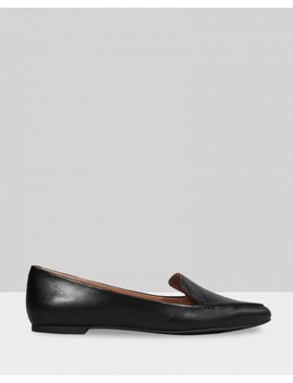 Packhamm Black Leather Pointed Toe Loafer by Wittner