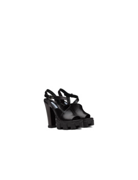 Monolith Leather Sandals by Prada