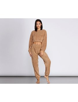 Cozier Than Ever Sherpa Pj Top by Windsor