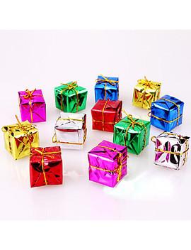 12 Pakning Juledekorasjon Gaver Rolle Ofing Juletrepynt Julegave Farge Tilfeldig  #05301151 by Lightinthebox