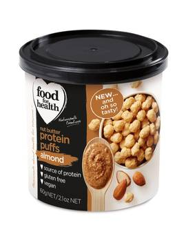 Food For Health Almond Butter Protein Puffs 60g by Food For Health