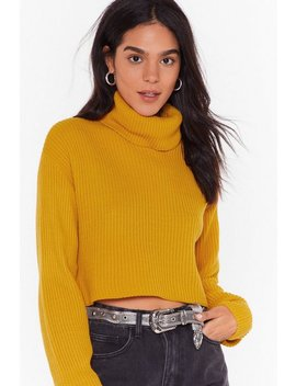 Knit The End Of The World Turtleneck Cropped Jumper by Nasty Gal