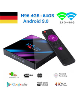 2019 H96 Max 4 Gb+64 Gb Tv Box 4 K Hd Android 9.0  Smart Network Media Player by Ebay Seller