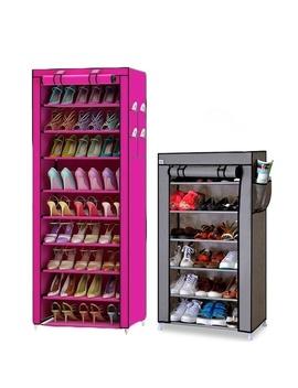 New 10 Layer 9 Grid Shoes Storage Cabinet Diy Assembly Shoe Shelf Dustproof Moistureproof Large Capacity Shoe Rack by Wish