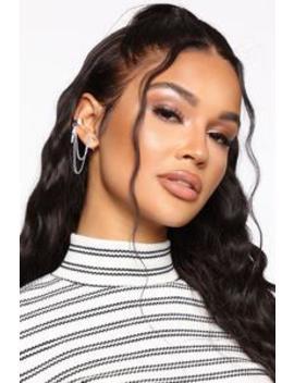 Ain't No Saint Ear Cuff   Silver by Fashion Nova