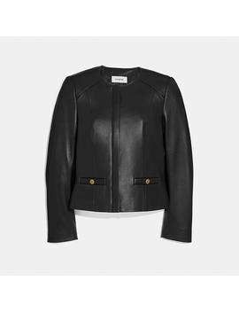 Tailored Leather Jacket by Coach