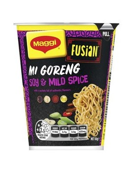 2 Minute Noodles Fusian Mi Goreng Soy & Mild Spice Cup by Maggi