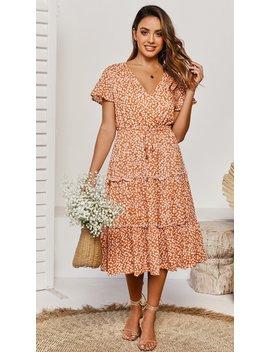 Brighton Dress   Peach Floral by Billy J.