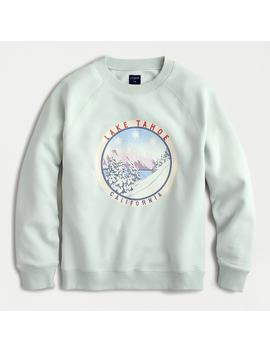 Lake Tahoe Fleece Pullover Sweatshirt by J.Crew