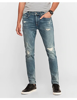 Skinny Hyper Stretch Ripped Jeans by Express