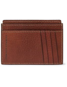 Full Grain Leather Cardholder by Brunello Cucinelli