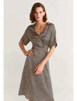 Sukienka Letnia   Krój Dopasowany W Talii by Mango