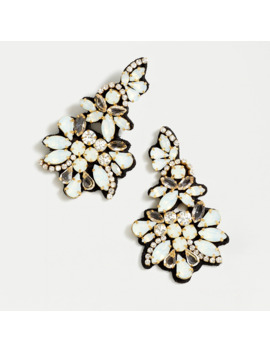 Crystal Fabric Backed Statement Earrings by J.Crew
