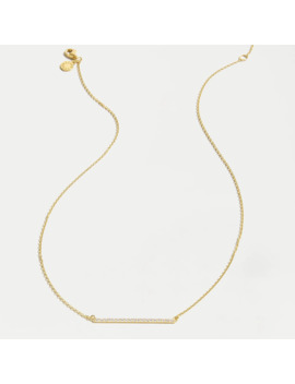 Demi Fine 14k Gold Plated Pavé Bar Necklace by J.Crew
