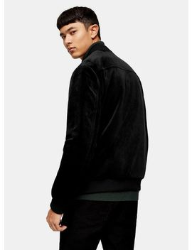 Black Velvet Bomber Jacket by Topman