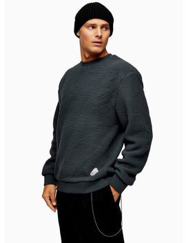 Charcoal Grey Borg Sweatshirt by Topman