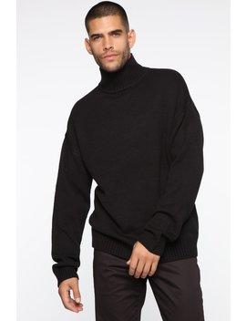 Hennrick Turtleneck Sweater   Black by Fashion Nova