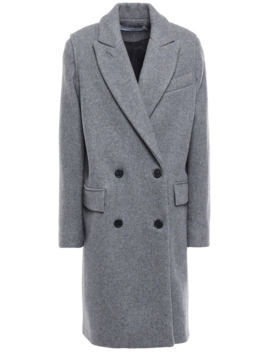 Fine Double Breasted Wool And Cashmere Blend Felt Coat by Iro