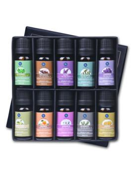 Lagunamoon 10 Ml 10 Pcs Gift Set Pure Essential Oils Diffuser Humidifier Massage Aroma Orange Peppermint Patchouli Lavender Lemon by Ali Express.Com