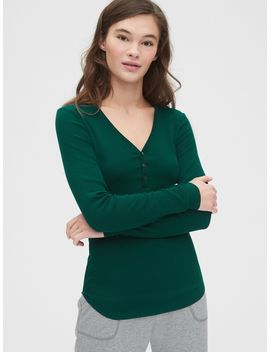 Ribbed Henley by Gap