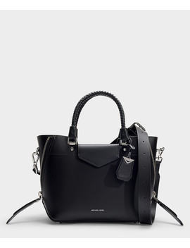Blakely Medium Messenger Bag In Black Calfskin by Michael Michael Kors