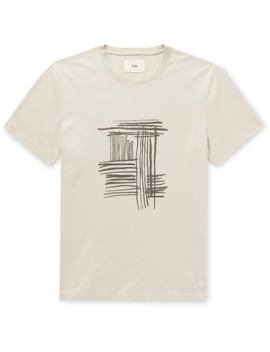 Printed Embroidered Cotton Jersey T Shirt by Folk