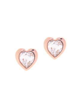 Han Crystal Heart Earrings by Ted Baker