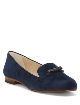 Anniston Suede Bow Detail Flats by Louise Et Cie
