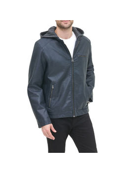 Levi's Faux Leather Midweight Motorcycle Jacket by Levi