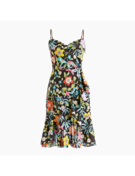 Ruffle Dress In Liberty® Pavilion Black Floral by Ruffle Dress In Liberty