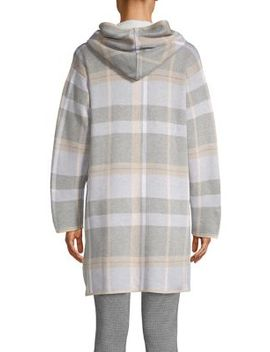Hooded Plaid Sweater Jacket by Calvin Klein