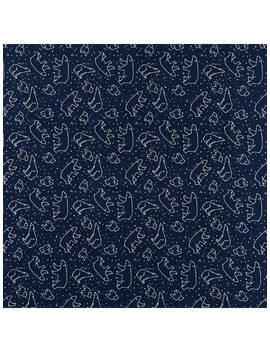 John Louden Animal Constellation Print Fabric, Navy by Oddies Textiles