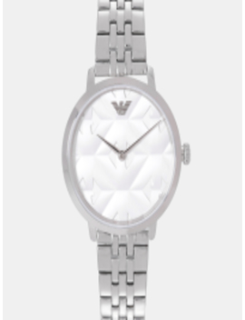 Women Off White Analogue Watch Ar11213 Sor by Emporio Armani