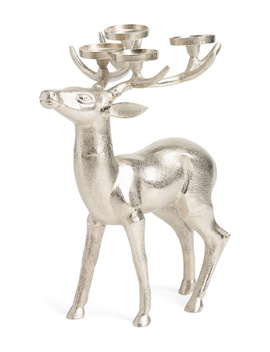 Reindeer Pillar Candle Holder by Tj Maxx