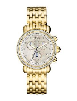 Women's Marsala Chronograph Swiss Diamond Watch, 43mm   0.0044 Ctw by Gevril