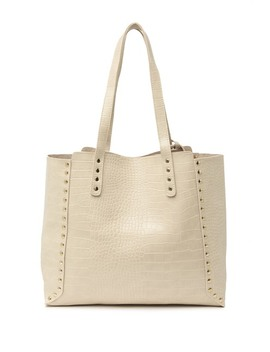 Gabrielle Croc Embossed Tote With Pouch by Pink Haley
