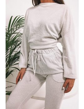 Cream Oversized Soft Touch Loungewear Set by I Saw It First