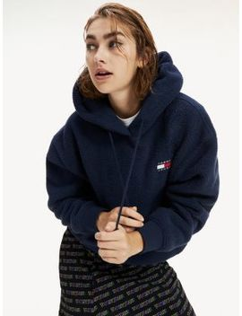 Tommy Badge Polar Fleece Hoody by Tommy Jeans