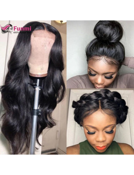 360 Lace Frontal Wig Pre Plucked With Baby Hair Brazilian Body Wave Human Hair Wigs Funmi Remy Lace Front Wigs For Women by Ali Express.Com