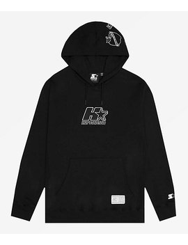 Huf X Starter Patches Black Hoodie by Zumiez
