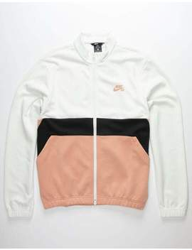 Nike Sb Dri Fit White & Khaki Mens Track Jacket by Nike Sb