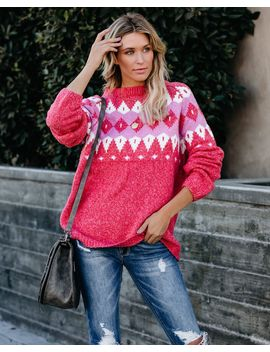 Dream By The Fire Knit Sweater by Vici