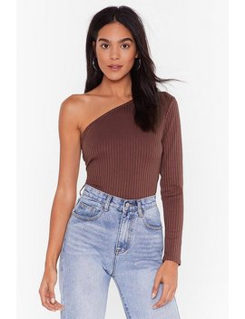 The Only One Shoulder R Ibbed Top by Nasty Gal