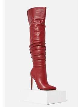 Clea Slouchy Stiletto Boot by Justfab