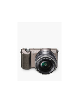 """Sony A5100 Compact System Camera With 16 50mm Oss Lens, Hd 1080p, 24.3 Mp, Wi Fi, Nfc, Oled, 3"""" Tilting Touch Screen With 32 Gb Memory Card, Brown by Sony"""